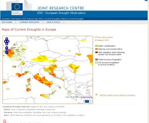drought observatory website europe